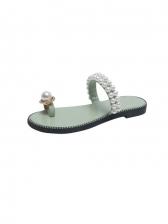 Trendy Beach Sea Side Faux-Earl Slippers