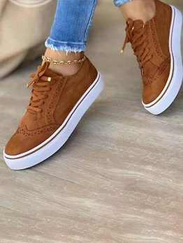 Summer Casual Solid Sneakers For Women