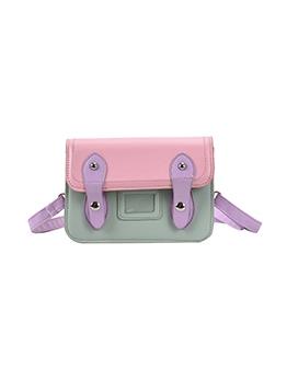 Contrast Color Shoulder Bags For Girls