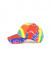 Tie Dye Printed Summer Outdoors Baseball Cap