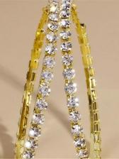 Vintage Fashion Round Shape Rhinestone Earrings