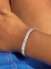 Simple Inlay Zircon Stylish Women Bracelet
