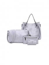 Fashion Solid 4 Piece Bags Set