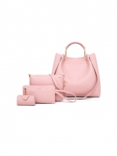 Popular Solid 4 Piece Bags For Women