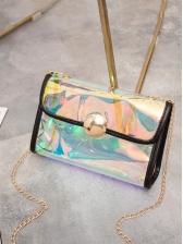 New Chain Contrast Color Shoulder Bags