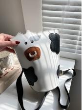 Korea Cow Print Cute Shoulder Bags