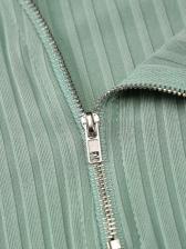 Sexy Solid Tight Zipper Sleeveless Summer Short Dress