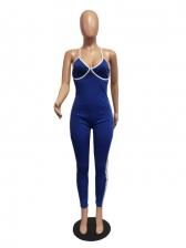 Seductive Low-Cut Tie-Wrap Backless Jumpsuit