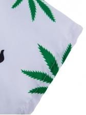 Hawaiian Style Turndown Collar Printing Short Sleeve Dress
