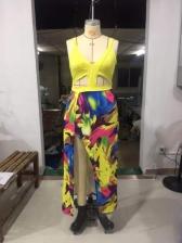 Sexy Deep v Slit Plus Size Maxi Dresses