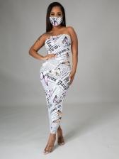 Newspaper Printing Sheath Strapless Maxi Dresses