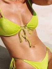 Latest Style Simple Solid Sexy Bikini Set Swimming