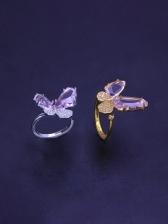 Latest Style Butterfly Rhinestone Women Ring