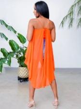 Solid Chiffon Material Sleeveless Camisole Dress