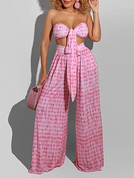 Sexy Loose Sleeveless Two Piece Pants Set