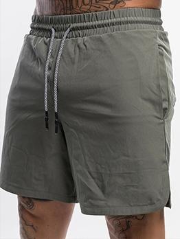 Casual Solid Drawsting Sport Short Pant For Men