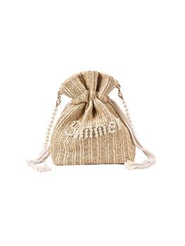 Chic Weaving Letter Pearl Ladies Shoulder Bag