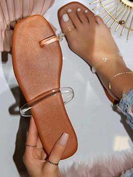 Summer Square Toe Slippers For Girls