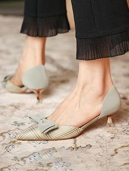Bowknot Fairy Beautiful Mid Heel Mules