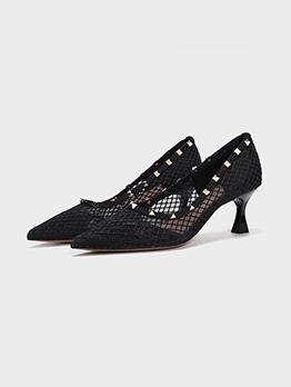 Online Rivet Trendy Casual Slip One Heels
