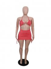 Hollow Out Seductive Nightclub Wear Sleeveless Dress