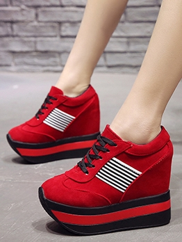 Spring Increased Leisure Female Wedge Shoes