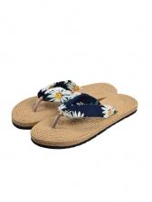 Beach Floral Flower Flip Flop Slippers For Women