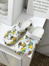 Animal Star Printed Non-Slip Slip On Slippers