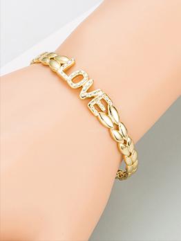 Easy Matching Simple Inlay Zircon Bracelet