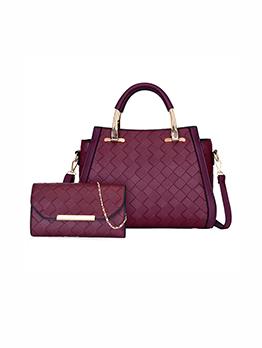 Fashion Solid High Capacity 2 Piece Handbags Set