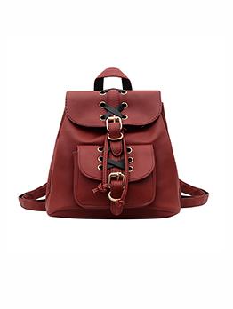 Preppy Style Tie-Wrap Backpacks For Women