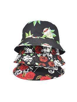 Skull Printing Fashion Spring Outdoors Unisex Bucket Hat