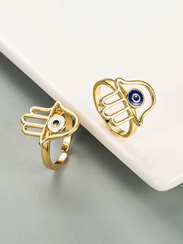 Palm Shape Design Copper Ring For Women