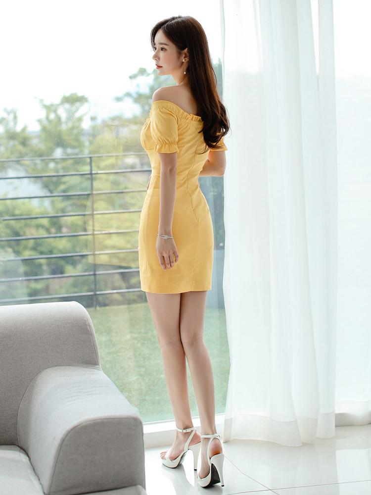 Off Shoulder Korean Summer Short Sleeve Dresses