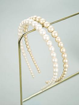 Vintage Style Fashion Fairy Faux-Pearl Hair Hoop