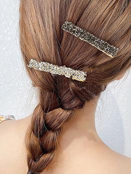 Rhinestone Korean Style Online Bang Hair Clip