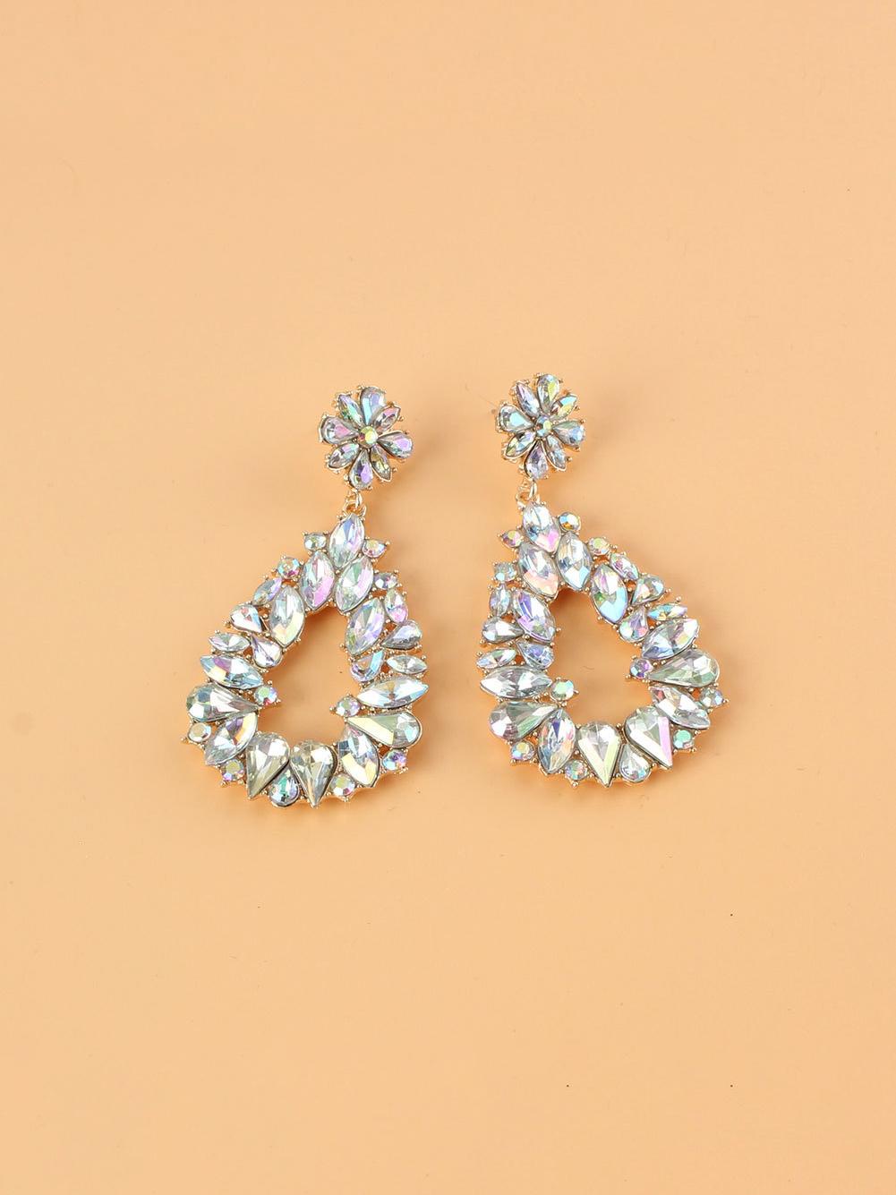 Colourful Rhinestone Business Fashion Women Earrings