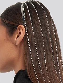 Rhinestone Long Tassel Street Trendy Hair Accessories