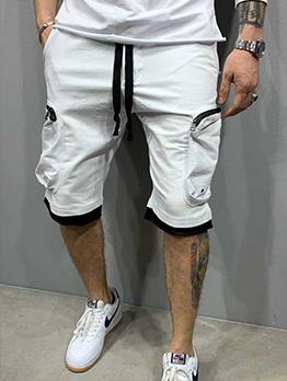 Summer Pocket Tie-Warp Cargo Pants For Men