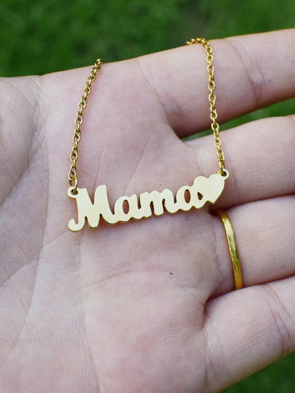 Graceful Golden Letter Necklaces For Women