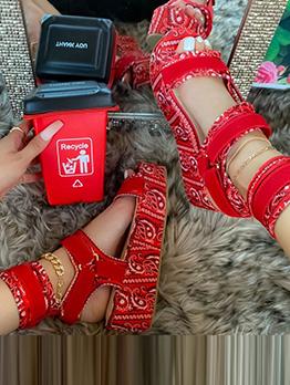 National Style Vintage Paisley Roman Sandals