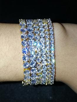 Shinny Zircon Hip Hop Bracelet