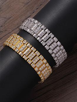 Fashion 18mm Zircon Copper Bracelet
