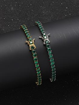 New Arrival Green Zircon 4mm Bracelet