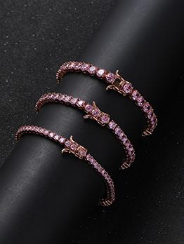 Adorable Pretty Pink Zircon Bracelet