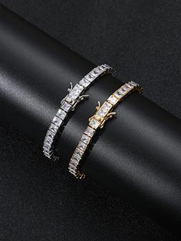 Modern Hip Hop Golden Tennis Chain Bracelet