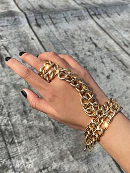 Punk Style Hip Hop Trendy Bracelet Ring One Pieces