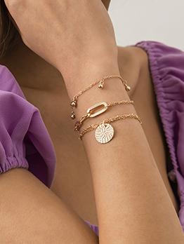Fashion Easy Matching Women Metal Bracelet Set