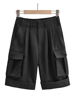 High Waist Summer Cargo Short Pants