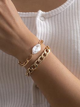 Fashion Alien Shape Faux-Pearl Women Bracelet